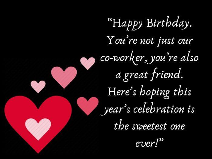 Birthday Greetings for Coworker