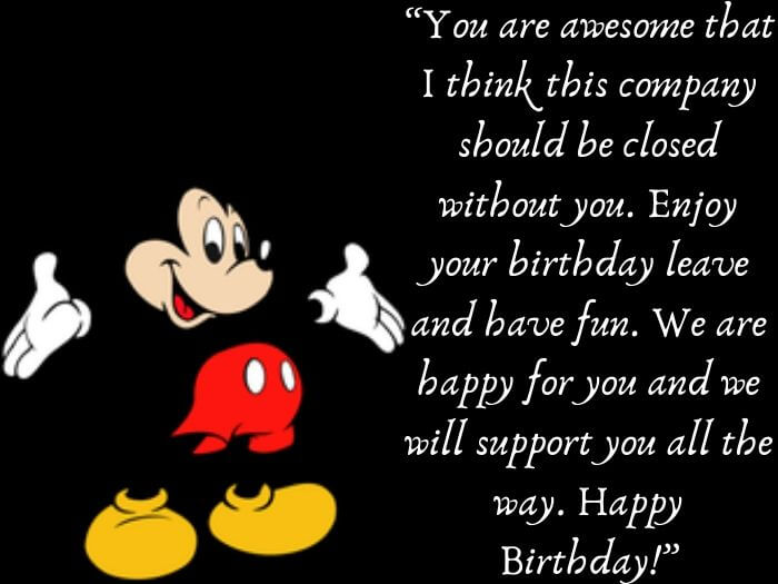 Birthday Message for Colleague