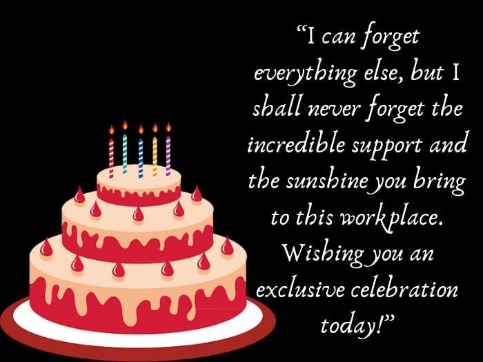 Birthday Wishes Coworker