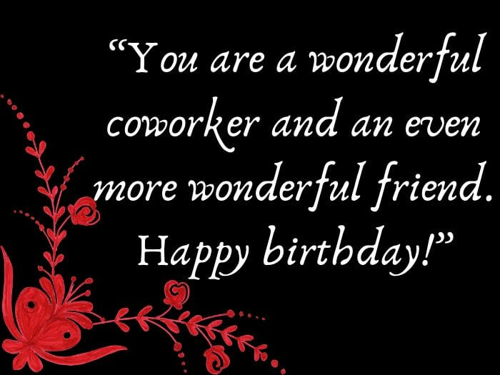 Happy Birthday Quotes for Coworker