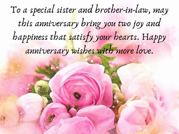 Marriage Anniversary Wishes for Sister
