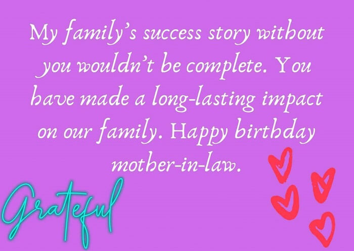 Quotes for Happy Birthday Mother in Law