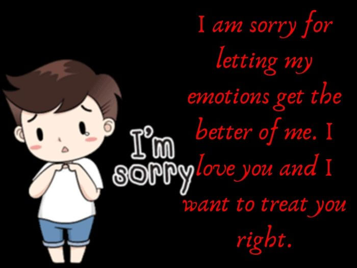 Soory Messages For her