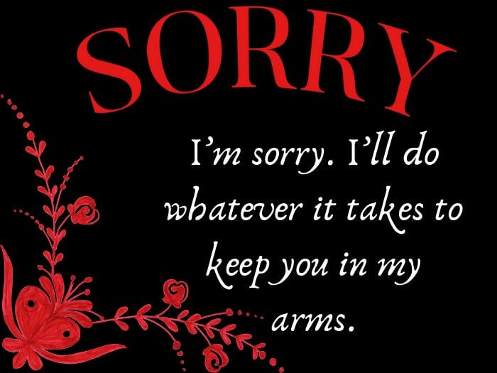 Msg gf sorry for I'm Sorry