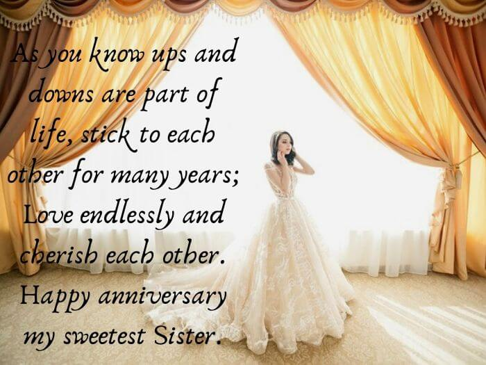 Happy Anniversary Wishes For Sister Brother In Law Messages