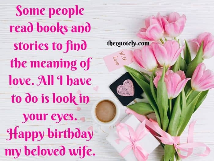 Superb Sweet Romantic Birthday Wishes For Wife The Quotely Personalised Birthday Cards Paralily Jamesorg