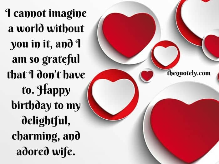 Birthday Wishes for a Wife With Love
