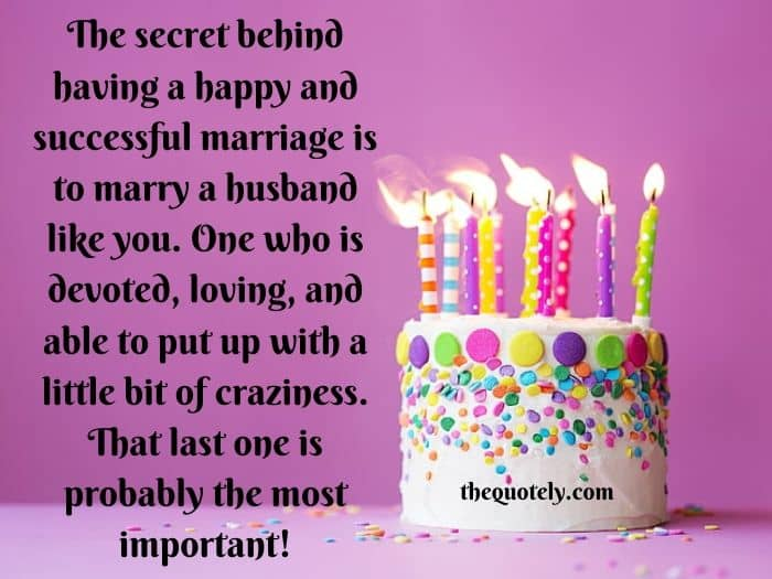 Sweet Happy Birthday Messages for Husband