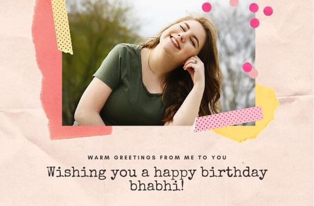 Birthday Wishes for Bhabhi from Nanad