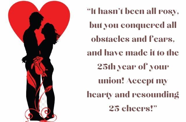 25th Wedding Anniversary Wishes