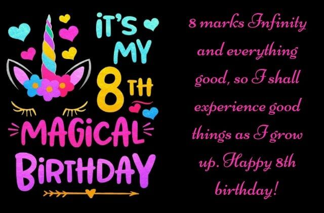 8th birthday wishes to me