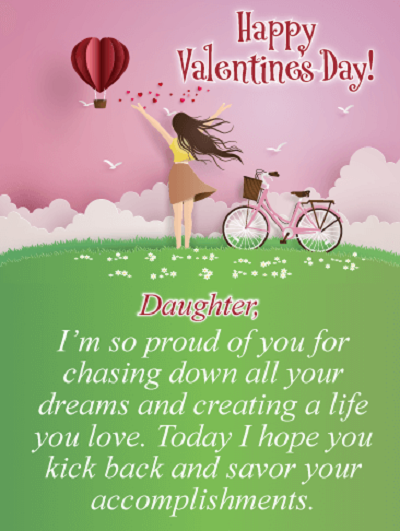 Valentine Day Message for Daughter