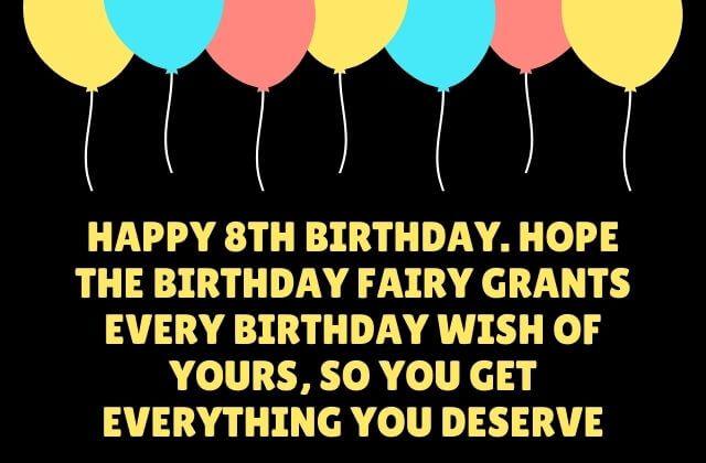 happy 8th birthday quotes
