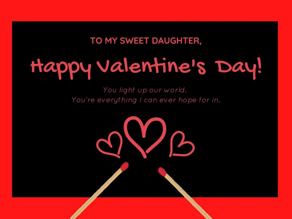 valentine wishes for daughter