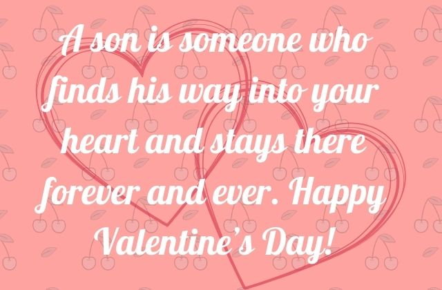 Happy Valentines Day Son Wishes